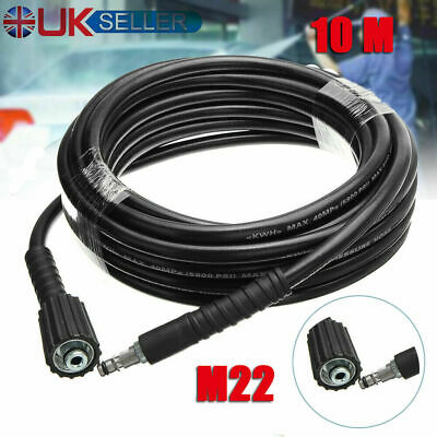 10m 33ft High Pressure Car Washer Water Cleaning Hose for Karcher K2 K3 K4 K5 UK