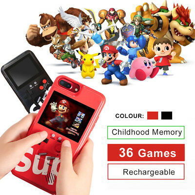 Color Screen Case Cover Gameboy 36 Game Tetris Player For iPhone XS X 8 7 6 Plus