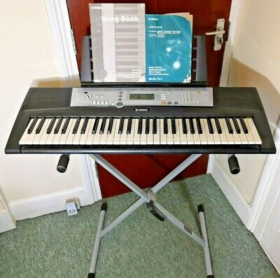 Yamaha YPT-200 Electronic Keyboard 61 Keys Digital Music With Manual & Stand