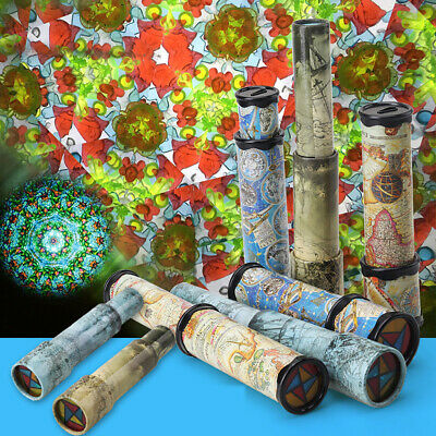 27cm 3 Section Rotatable Kaleidoscope Toys Kids Educational Science Toy Gift USA