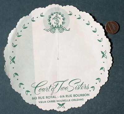 1960s Era New Orleans,Louisiana Court of Two Sisters Restaurant teacup placemat*