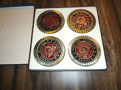 coasters United States Senate Coasters Colored Filled in Box