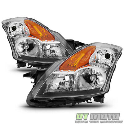 For 2007 2008 2009 Altima Sedan Chrome Headlights Headlamps Assembly Left+Right