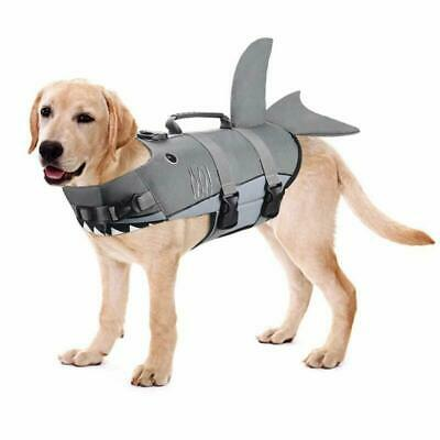 Dog Life Jacket Strong Rescue Handle for Water Safety at Pool Beach Boating M