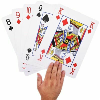 Juvale Super Big Giant Jumbo Playing Cards with Full Deck Huge Standard Print