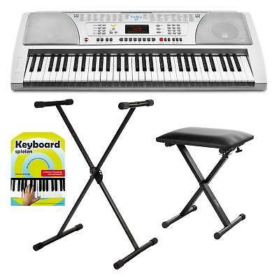 Digital 61 Tasten Kinder Keyboard Ständer Klavier Bank Schule E-Piano Orgel Set