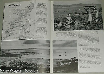 1955 magazine article about OKINAWA, Japan, post WWII, rebuilding