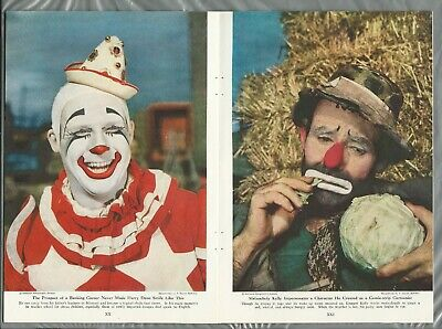 1948 THE CIRCUS magazine article, info color photos Big Top Clowns Ringling Brot