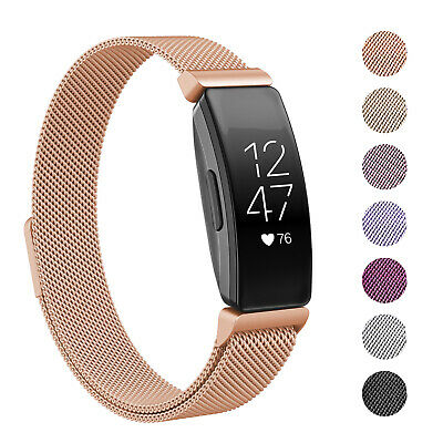 For Fitbit Inspire / HR Stainless Steel Metal Loop Watch Band Magnetic Strap Hot