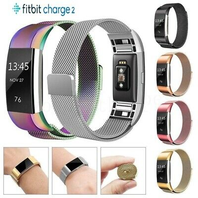For Fitbit Charge 2 Strap Replacement Milanese Watch Band Stainless Magnet Hot