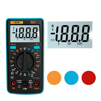 ANENG M1 LCD Backlight High Precision Auto Range Digital Multimeter AC/DC Tester