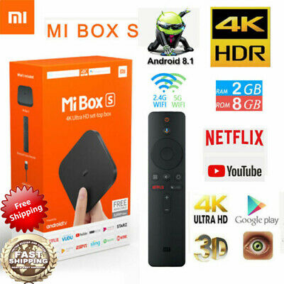 Xiaomi Mi TV Box S 2GB+8GB Android 4K TV-Konsole WiFi Ultra HD Media Player PE
