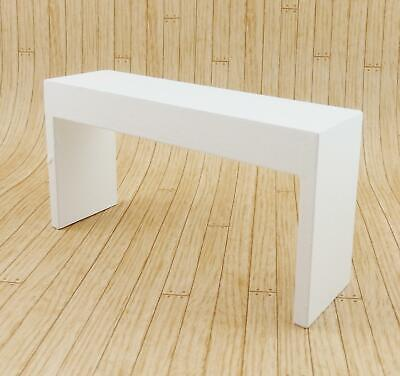Melody Jane Dolls House Modern White Console Table Contemporary 1:12 Furniture