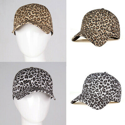 Leopard Ponytail Baseball Caps Women Messy Bun Adjustable Snapback Hip Hop Hat