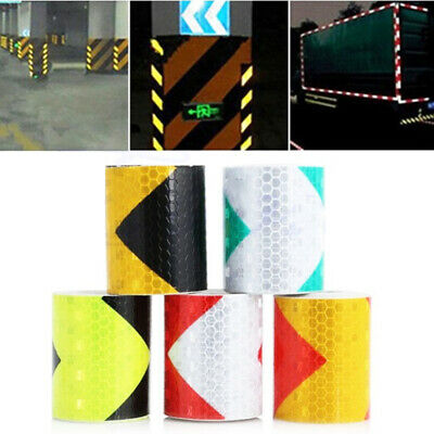 Safety Conspicuity Sticker Arrow Tape Strip  Reflective Safety Warning Tape