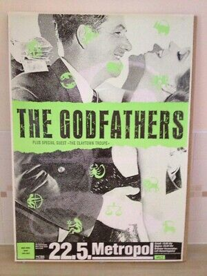 Godfathers More Songs About Love And Hate Tour Poster Berlin May 22 Concert Post