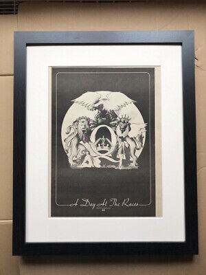 QUEEN A DAY AT THE RACES (FRAMED) POSTER SIZED original music press advert from