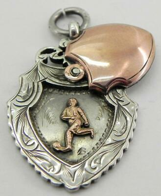Rare Antique Solid Silver Fob Medal, Birmingham 1922, By H Williamson.