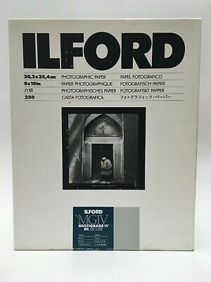 "ILFORD MULTIGRADE IV RC DE LUXE Paper (Pearl, 8 x 10"", 250 Sheets)"