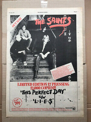 SAINTS THIS PERFECT DAY POSTER SIZED original PUNK music press advert from 1977