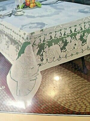 """Harvest Tyme Thanksgiving Fall Tablecloth 70"""" x 90"""" Oblong - by Grossman -New"""