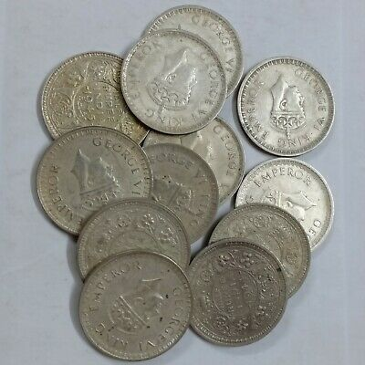 British East India George VI  silver rupee 1941-1945 One coin only 7 available