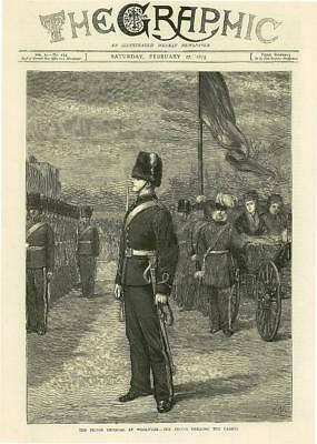 1875 Antique Print  - LONDON Woolwich Prince Imperial Cadets Drill    (106)