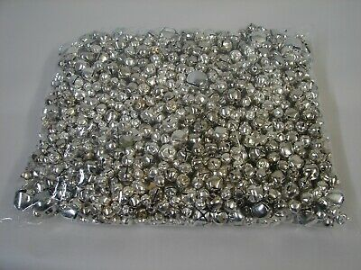 Silver Small Jingle Bells Assorted Sizes 3/8 1/2 3/4 1/4 Inch 3 Pounds