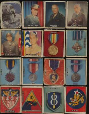 1950 Topps Freedom's War  G lot of 94 diff low grade cards G avg 52569
