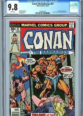 Conan the Barbarian #67 CGC 9.8 White Pages Red Sonja Marvel Comics 1976