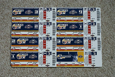 Sheet Set / Lot of 8 2007 Unused Milwaukee Brewers Tickets Championship Series