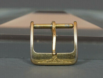 60' Authentic Gold Plated Steel Longines Swiss Wristwatch Band Clasp Buckle 13mm