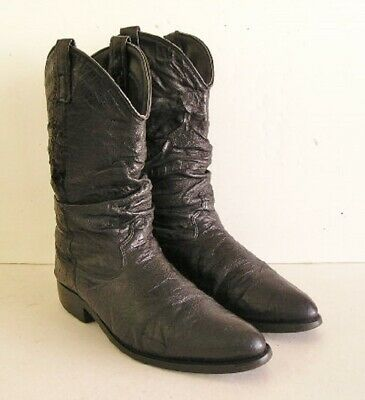 4487fa9d0f7 VINTAGE ACME BOOTS Cowboy Western Leather Red Inlay Size 5.5 D Mens ...
