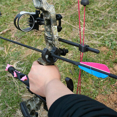 Black Y Brush Arrow Rest for Compound Bow Recurve Bow Hunting and Archery RH LH
