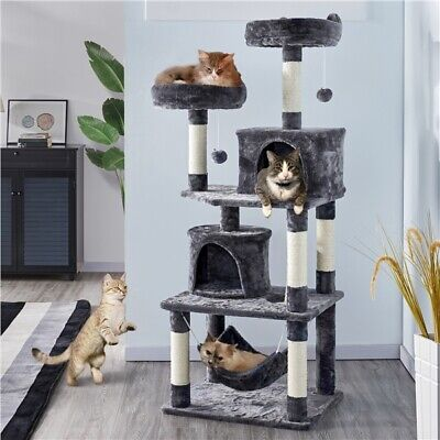 Multi Level Cat Tree Tower Cat Scratch Posts Activity Centre Scratcher Furniture
