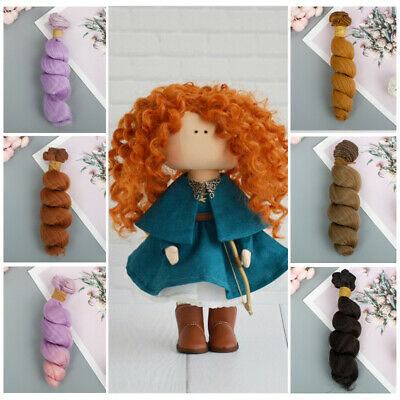 15cm 1/6 1/4 1/3 Mini Tresses Curly Wigs Doll Hair Accessories Kids Toy Gifts~