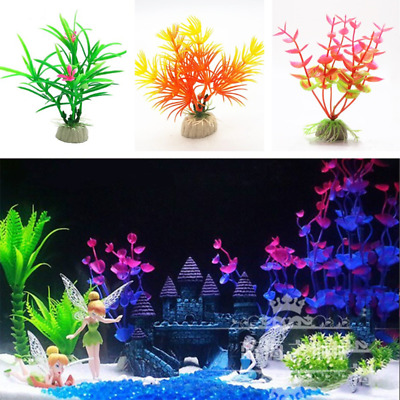 10pcs Artificial Plant Fish Tank Decoration Water Grass Aquarium Landscape Decor