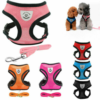 Adjustable Breathable Mesh Small Dog Cat Pet Harness Leash Collars Puppy Vest A#