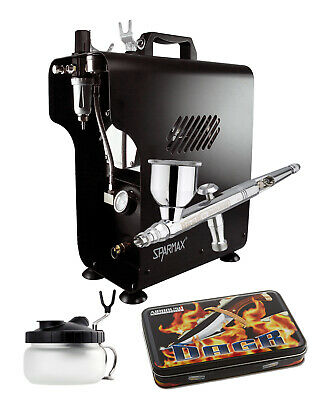 Professional Airbrushing Kit - DeVilbiss DAGR Airbrush & Sparmax 620X Compressor