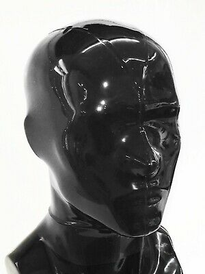 LATEXTIL --- CLOSED BLACK 0.8mm Stark --- Size SMALL - mask hood rubber