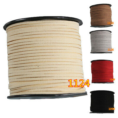 1 Roll 90 Meters Faux Suede Leather Rope Cord Korean Velvet Materials Supplies