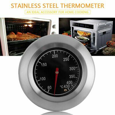 Round Stainless Steel Oven Double Metal Thermometer 60-430 Degrees Celsius RY
