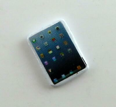 Dolls House Miniature Modern 1:12 Scale Accessory Android Ipad Tablet in White