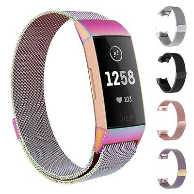 Straps For FitBit Charge 3 Wristband Replacement Milanese Metal Wrist Bands