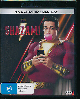 Shazam! 4K UHD Blu-ray NEW