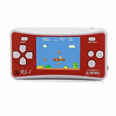 "E-WOR Videogiochi portatili portatili 2.5 ""LCD Retro Video Gaming (Red + White)"