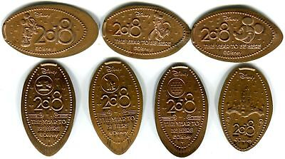 Retired Walt Disney World 2018 Collection Of Seven Souvenir Pressed Pennies