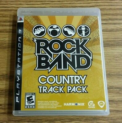 Rock Band: Country Track Pack (Sony PlayStation 3, 2009) PS3 Complete VG