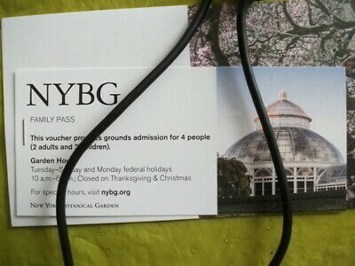 New York Botanical Garden Free Family Pass for 4 People Exp 9/29/2019