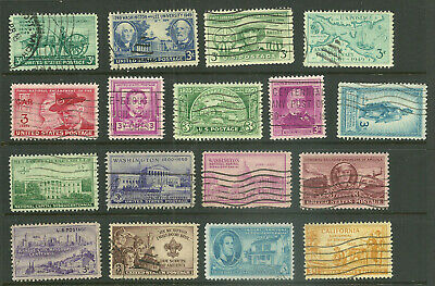 US 1949-1950 Complete Commemorative Year Set of 17, 981-997 - Used